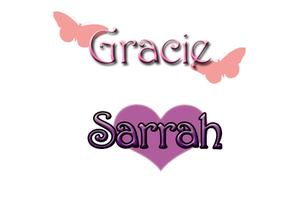 Gracie and Sarrah's Logos by FlamesofSugar