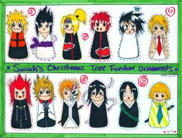 Fandom Christmas Ornaments by devious-tofu