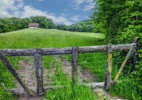 May 09 - Gate on a field by HermitCrabStock