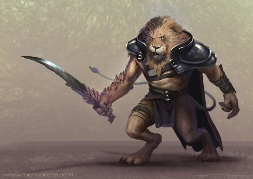 Lion Dude by MariusBota