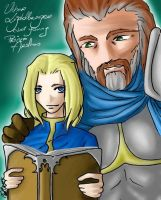 Uther and a young Arthas by mornmeril