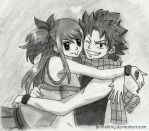 Natsu and Lucy by jhonakitty