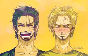 Zoro and Sanji by Excel-K