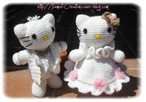 hello kitty, Just Married by Tiamat-Creations
