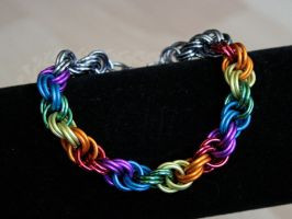 Rainbow Double Spiral Bracelet by Ichi-Black