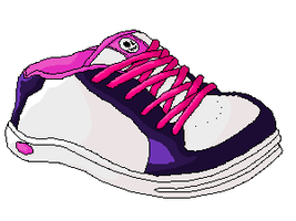 Skate Shoe Pixel Art by crazychocolate