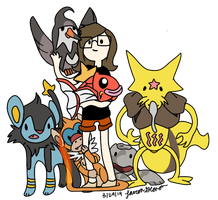 Current Pokemon Team by LaurenBlu
