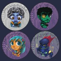 ReBoot Buttons by perishing-twinkie