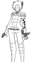 Custom Outfit Lineart for Desiree-U by azume-adopts