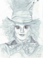 the mad hatter by ClairBlueArt