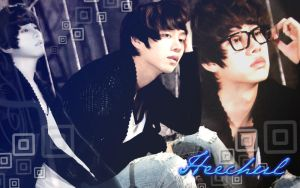 Wall heechul blue ver by RainboWxMikA