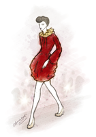 Red Dress by AmbeeAnimation