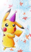 Party pika by KicsterAsh
