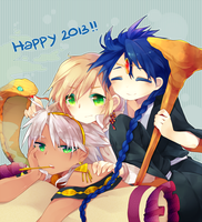 Happy new year by Juupion