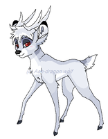 Snow Deer Ash by Ash-Dragon-wolf