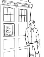 Chillin with the Tardis by theTieDyeCloak