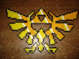 Hylian Crest - Perler Beads by digital-strike