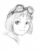 Kristi Goggles Sketch by IndustrialComics