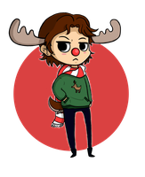 Sam the Christmas Moose by ChibiTigre