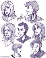 Doctor Who Sketchdump by GinnyMilling
