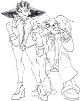 Tron Bonne and Dr. Wily by Tyrranux