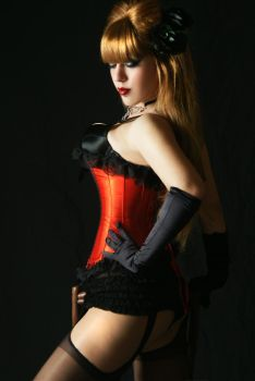 Tanit-Isis Red Burlesque X by tanit-isis-stock