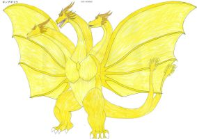 G Reborn KING GHIDORAH by KingShisa08
