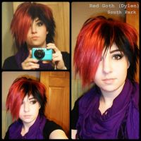 Wig Test: Red Goth by cheese-cake-panda