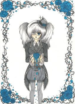 Gothic Lolita Roses -colored- by amyanime