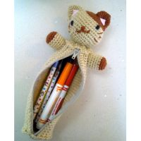 Kitty Pencil Pal Pouch by vrlovecats