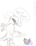 Kawcaw's evil plan of thoughts sketch by CynderAngelDWOship14