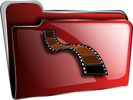 Icon folder red videos by froshellin