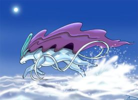 Water Monarch - Suicune by DarkFeather