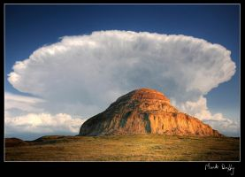 Castle Butte Sunset by pictureguy