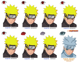 naruto sharingan mode edition by Naruttebayo67