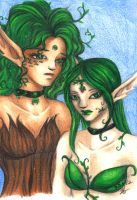 Sisters - Willow and Garner by Myotes