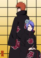 Naruto - Pein and Konan by pride-ed