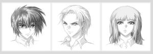 Harry, Draco and Hermione by AncientKing