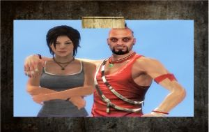 Lara Croft and Vaas: Never forget your badass boy. by Hatredboy