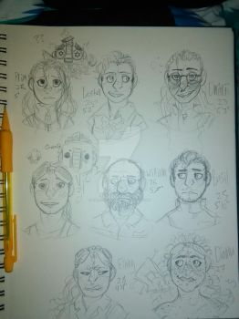 Rough sketches by treefrog227