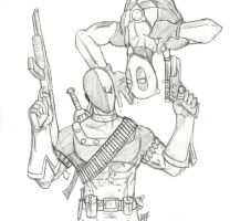 Deadpool und Deathstroke by Amrock