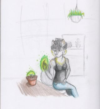 Green Thumb (sketch) by Aidaided