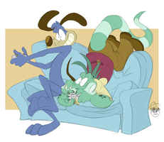 No Couch is Safe by SharpDressedReptile
