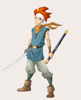 Chrono from Chrono Trigger colors by AshyKnuckles