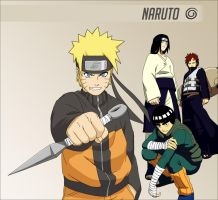 Naruto - 4 Heroes by bdgiga