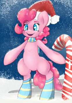 Pink Christmas by AngelWing314