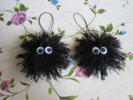 Soot Sprite cell phone charms by NurseRozetta95