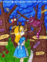Alice Project: WichWay? Cheshire cat by PrincessBlackRabbit