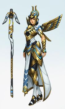 Overwatch fan-skin: Deity Mercy by FonteArt