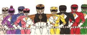 Power Rangers - movie uniforms by lurdpabl